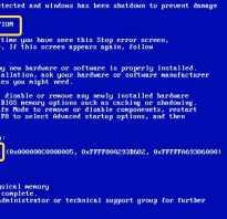 Ошибка 0000003b Windows 7