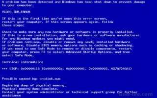 Ошибка 0x00000116 atikmpag sys как исправить