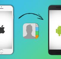 Перенос контактов из iPhone в Android